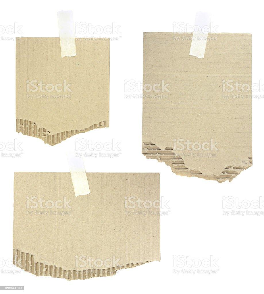cardboard pieces royalty-free stock vector art
