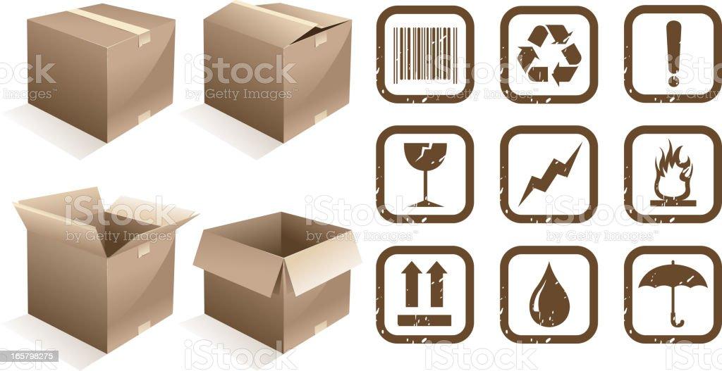 cardboard symbols royalty-free stock vector art