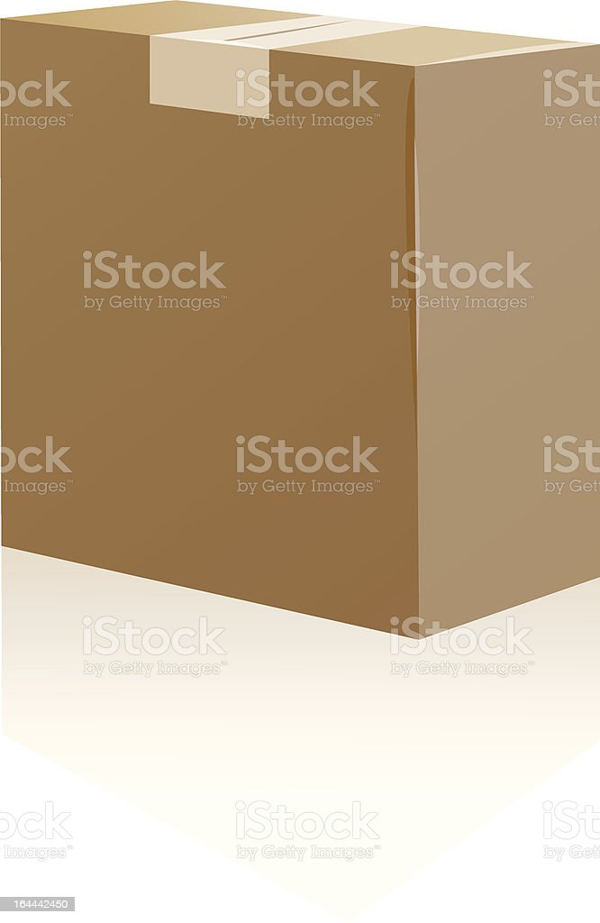 cardboardbox royalty-free stock vector art