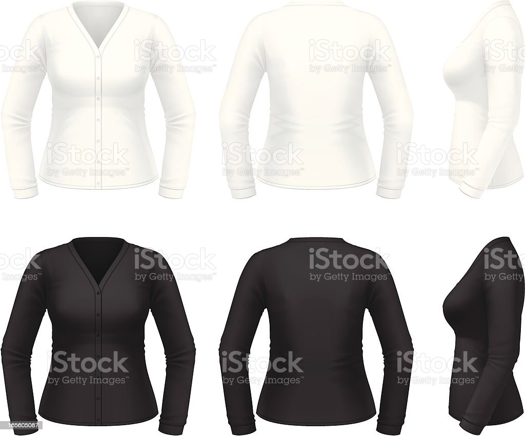 Cardigan royalty-free cardigan stock vector art & more images of black color