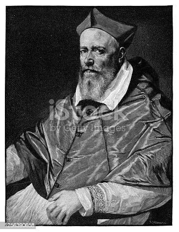 Cardinal Giacomo Saveli  - Scanned 1890 Engraving