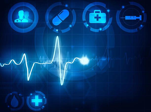cardiogram 波医療バックグラウンド - 医療機器点のイラスト素材/クリップアート素材/マンガ素材/アイコン素材