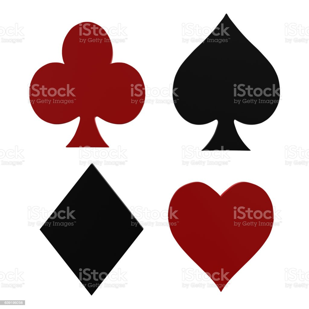 Cards Symbols - Playing card symbols set vector art illustration