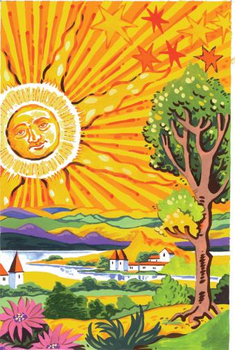 TAROT CARD.The Sun