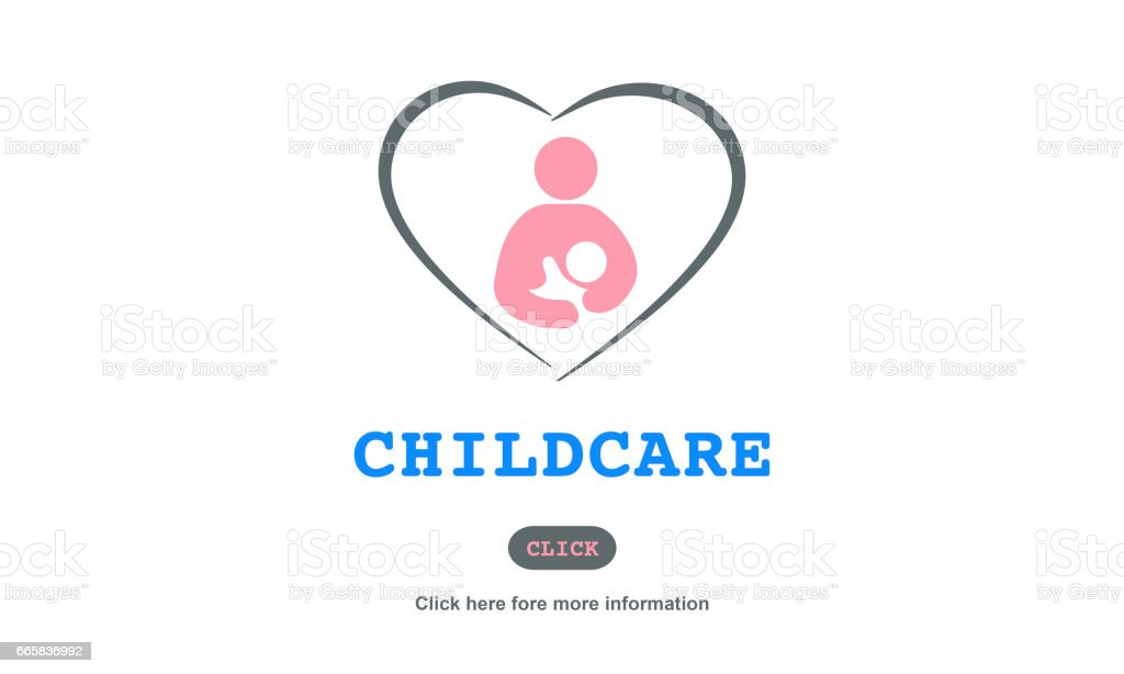 Care Childcare Love Baby Take Care Concept vector art illustration