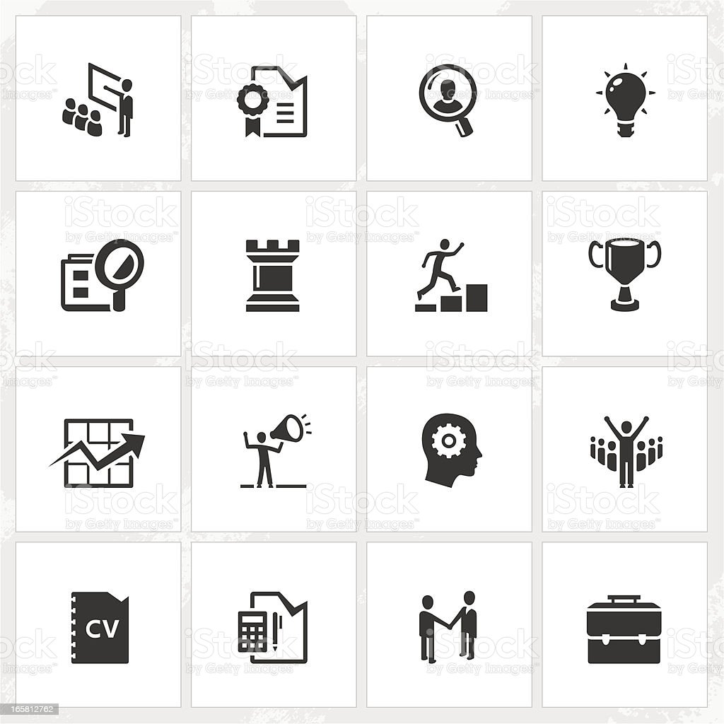 Career and Business Icons vector art illustration