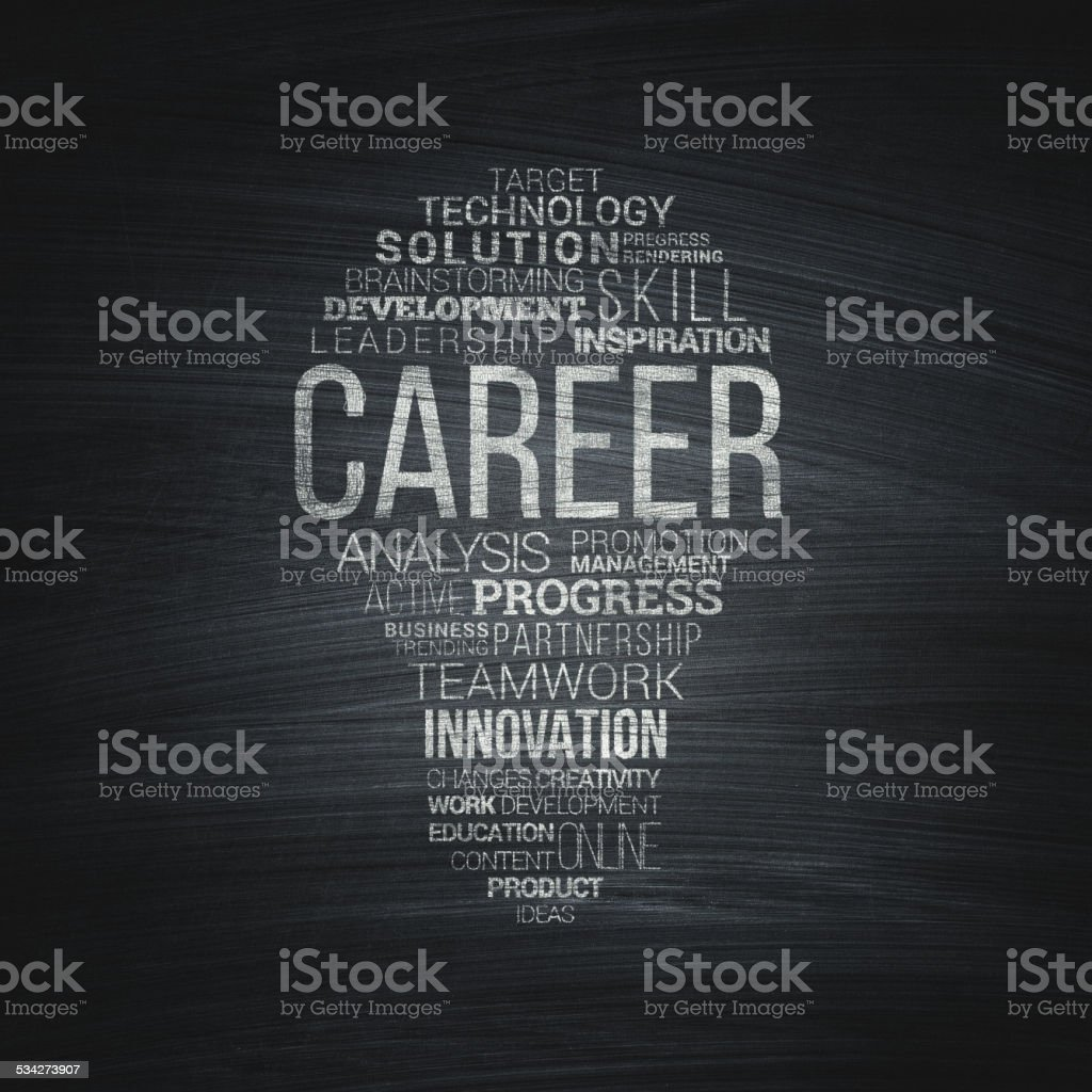 Career. Typography vector art illustration