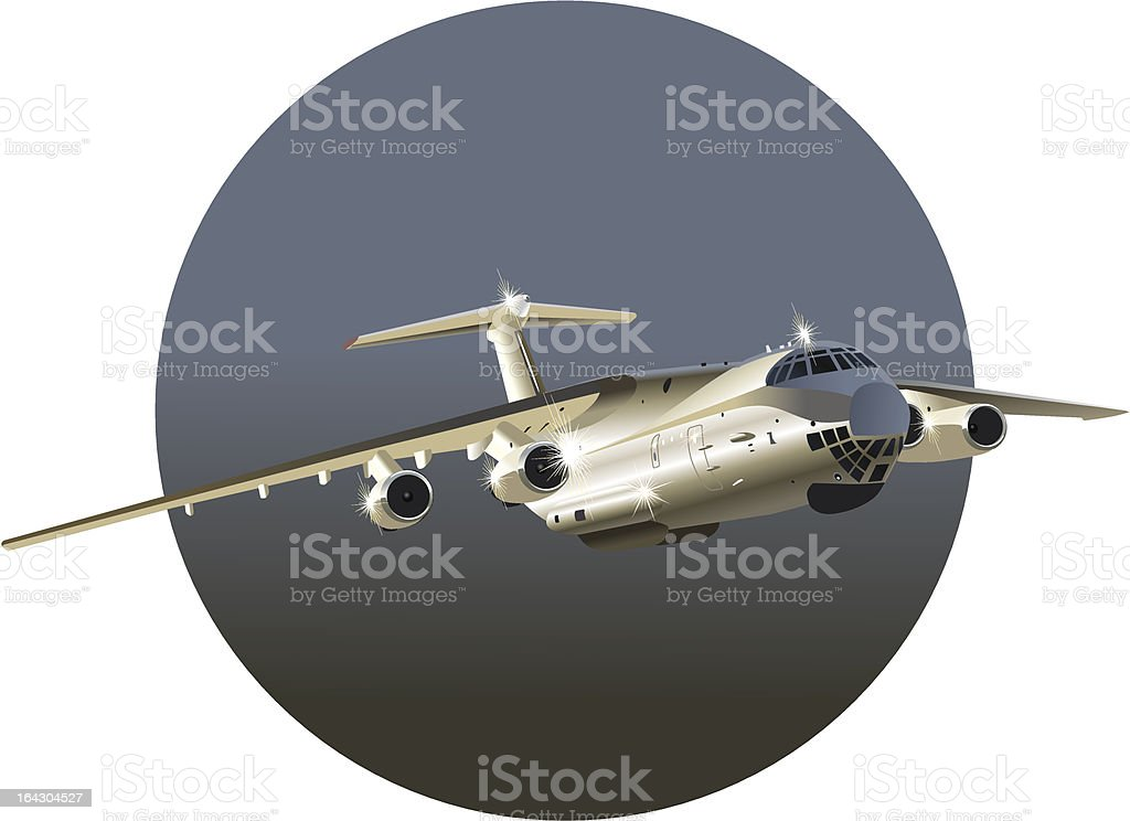 cargo airplane royalty-free stock vector art