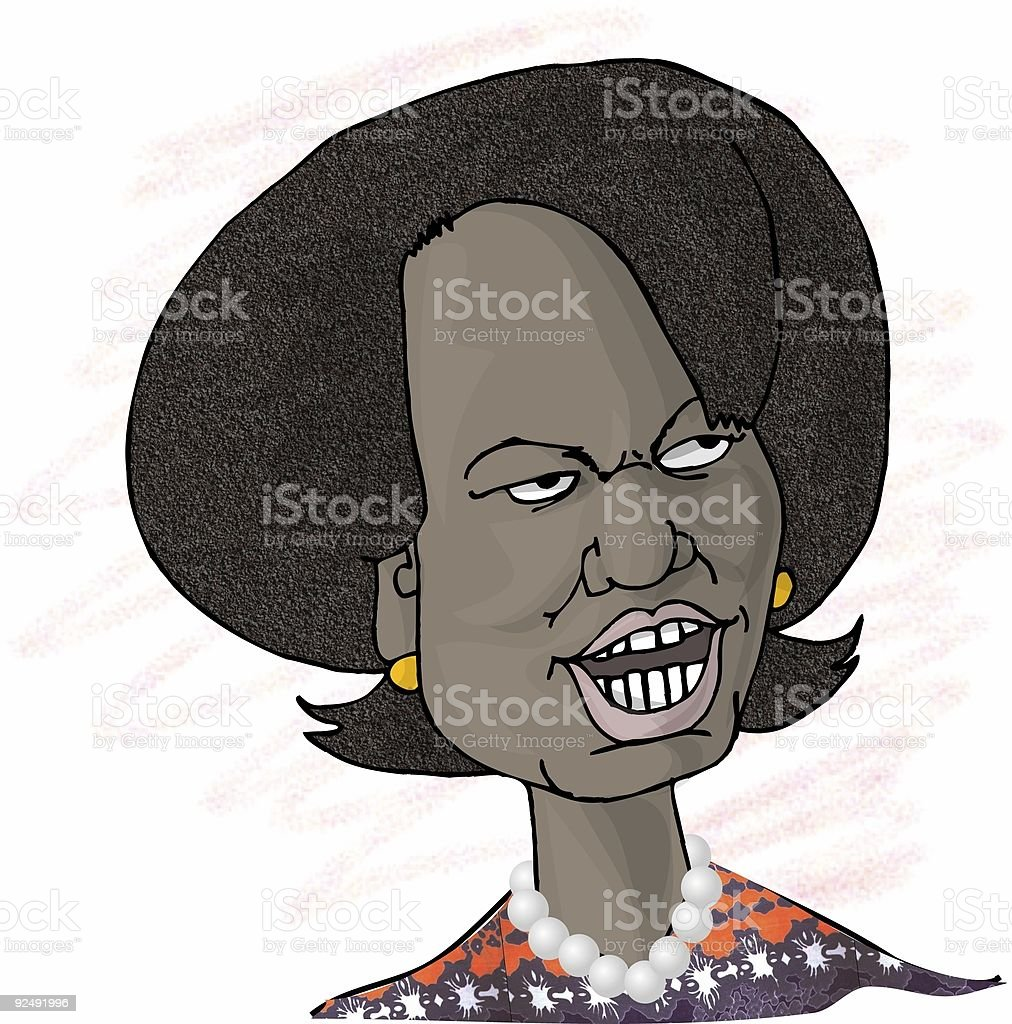 Caricature of Condolleezza Rice royalty-free caricature of condolleezza rice stock vector art & more images of black color