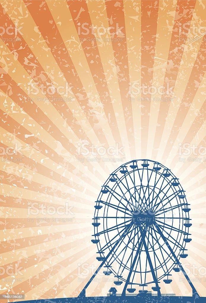 carnival ferris wheel vector art illustration