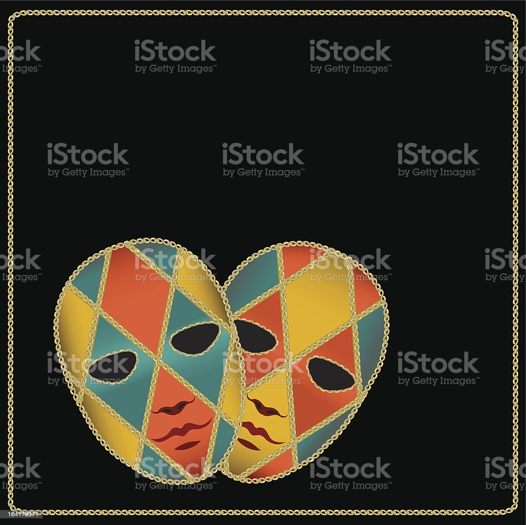 carnival masks royalty-free stock vector art