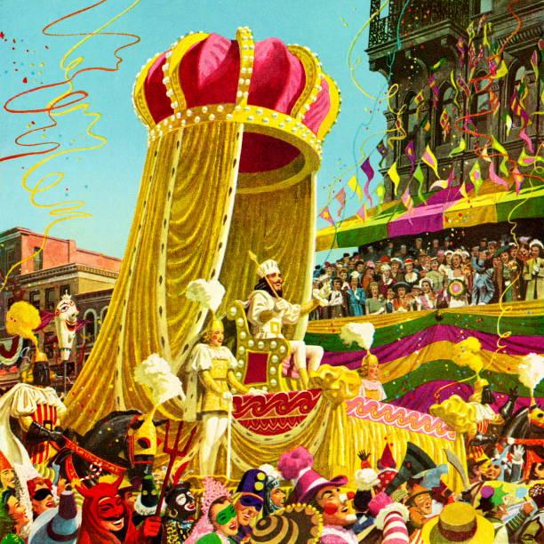 bildbanksillustrationer, clip art samt tecknat material och ikoner med carnival parade - parad