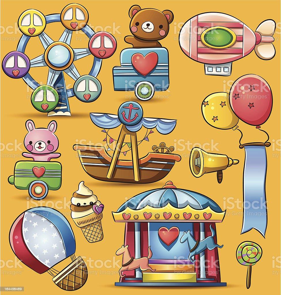 カーニバルのテーマパーク おもちゃのベクターアート素材や画像を多数