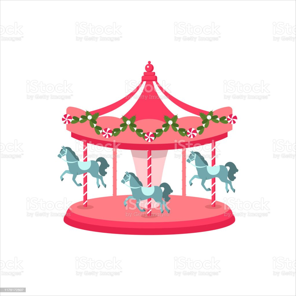 Carousel Horse Illustration Of A Carousel Festival Vector Stock Illustration Download Image Now Istock