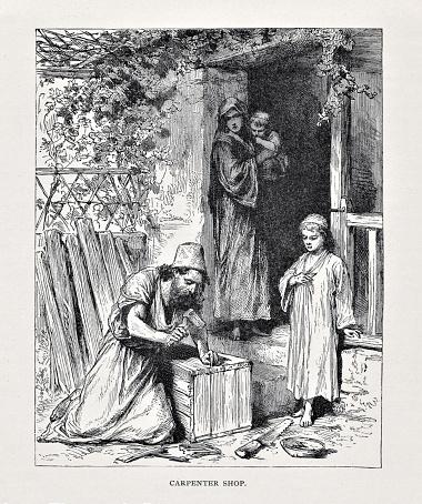 Carpenter Joseph Teaches Jesus