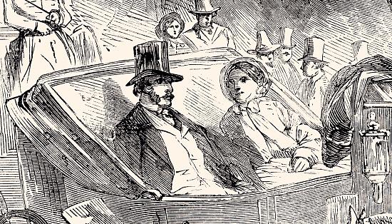 1857年のブローニュボワでの馬車乗り - 1857年のベクターアート素材や ...