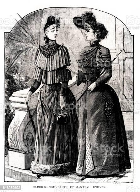 キャリックと 1889 年に独立ファッション - 1889年のベクターアート ...
