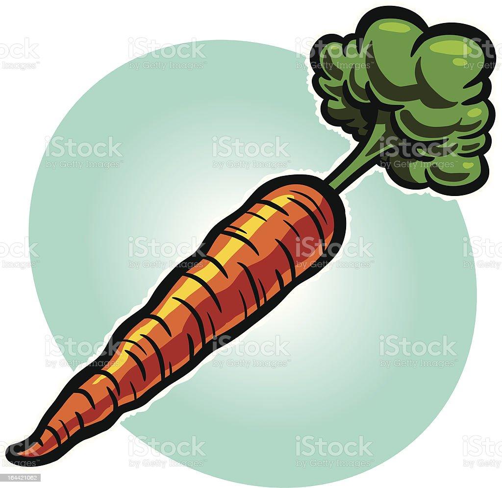 Carrot vector art illustration