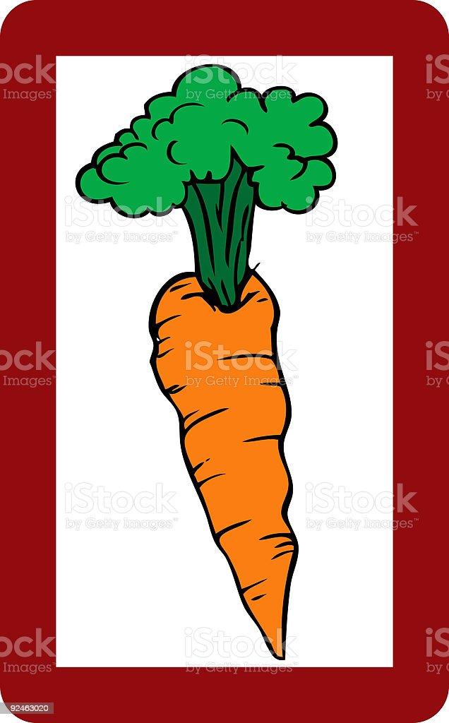 Carrot royalty-free stock vector art
