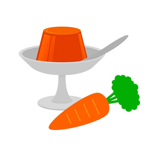 にんじんゼリー - プリン スプーン点のイラスト素材/クリップアート素材/マンガ素材/アイコン素材