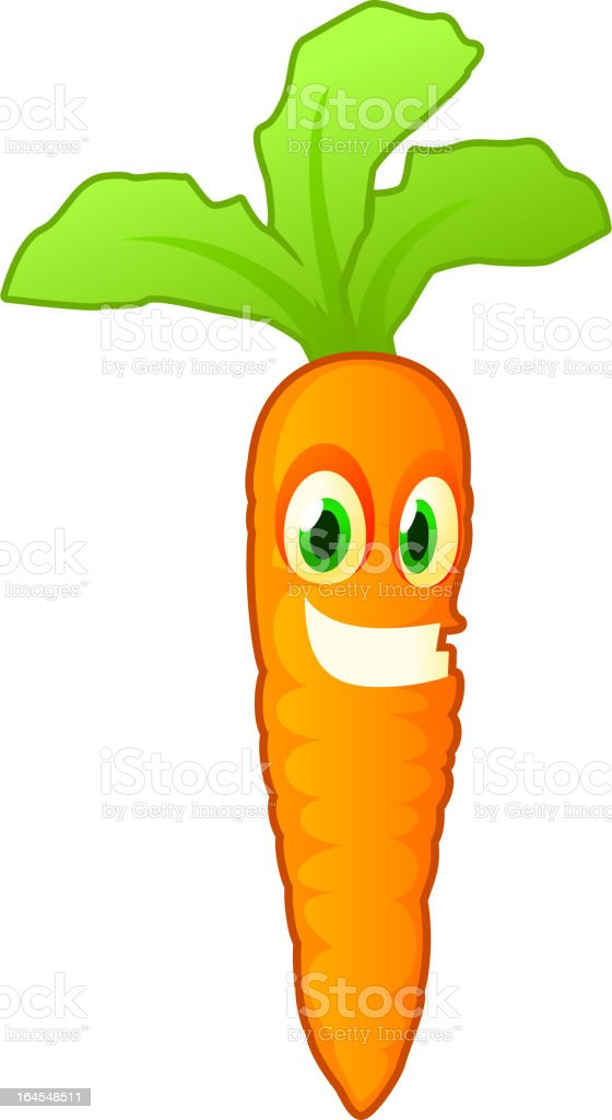 Carrot smiling royalty-free stock vector art
