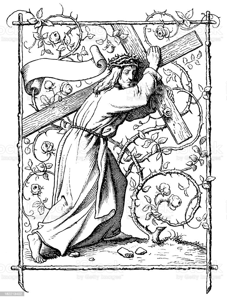 Carrying of the Cross vector art illustration