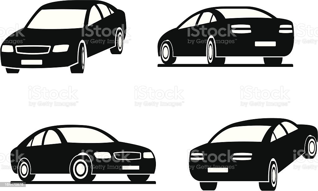 Cars in perspective royalty-free stock vector art