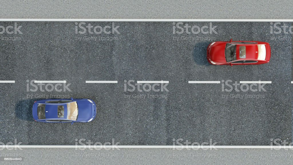 cars on the road. 3d illustration vector art illustration