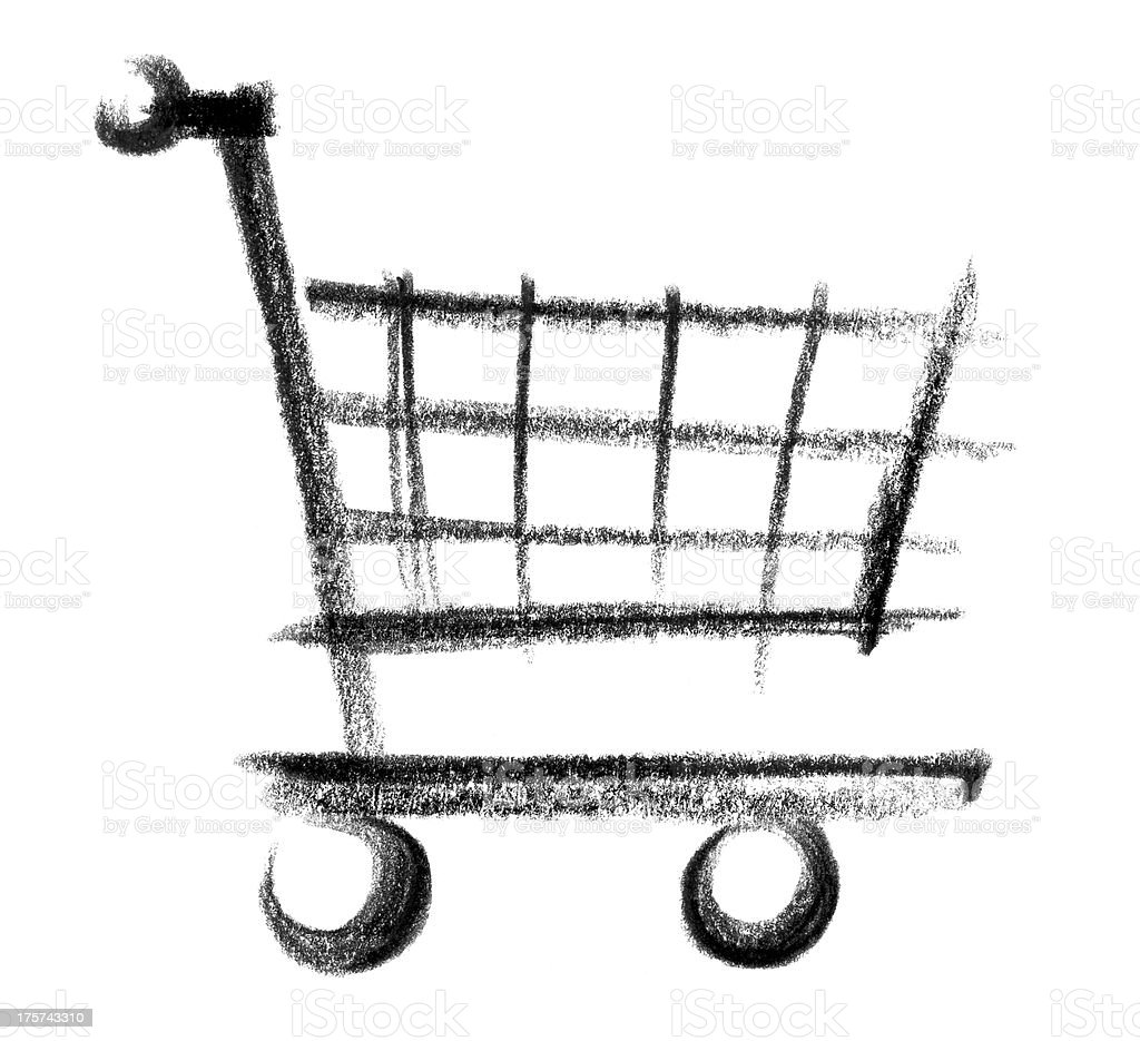 cart icon vector art illustration