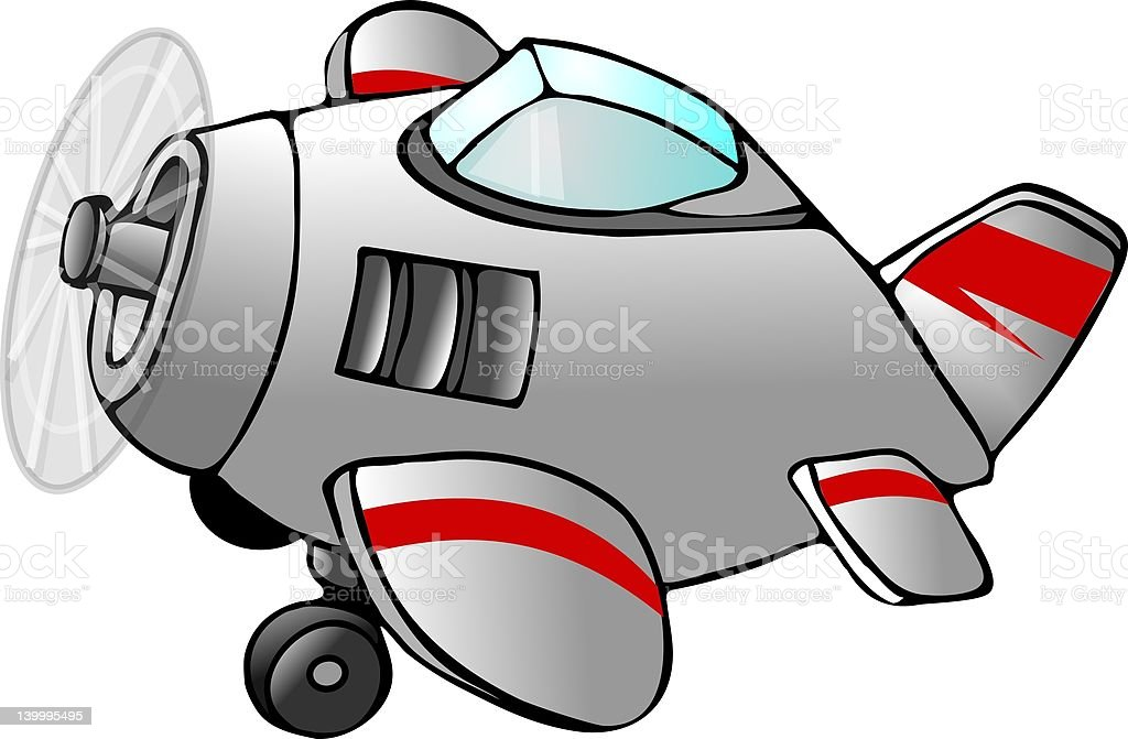 Cartoon airplane royalty-free stock vector art