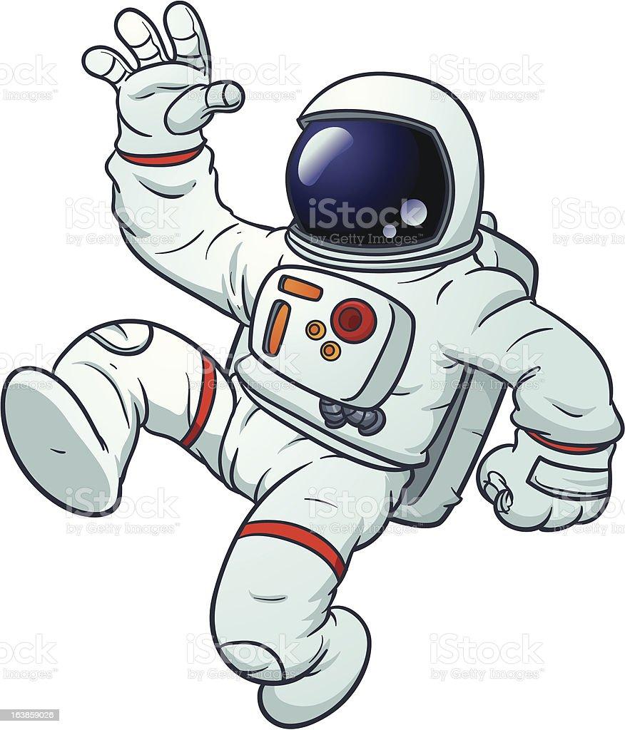 Fumetto di Astronauta - illustrazione arte vettoriale