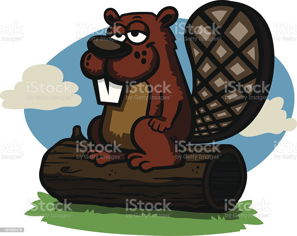 Cartoon Beaver royalty-free stock vector art