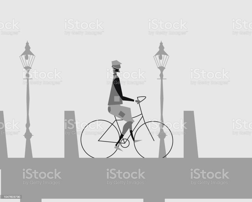 Cartoon Bike vector art illustration