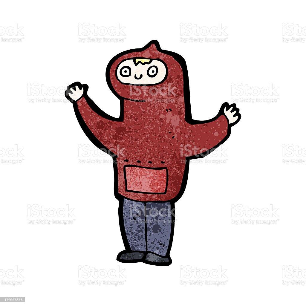 cartoon boy in hooded sweatshirt royalty-free cartoon boy in hooded sweatshirt stock vector art & more images of adult