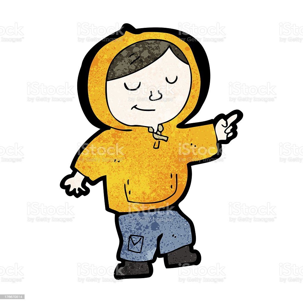 cartoon boy in hooded top royalty-free cartoon boy in hooded top stock vector art & more images of adult