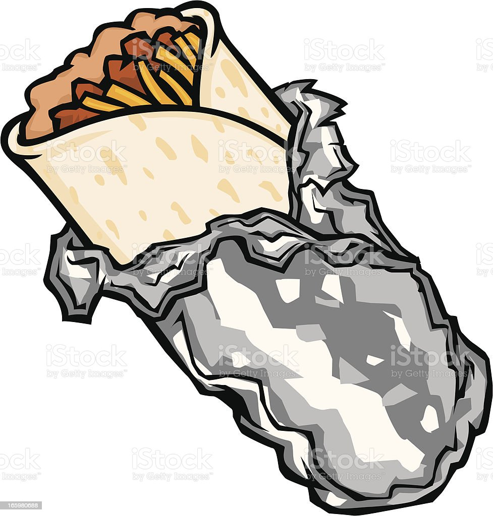 cartoon burrito stock vector art more images of bean 165980688 rh istockphoto com chicken burrito clipart mexican burrito clipart