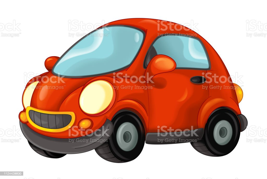 Cartoon Car On White Background Stock Illustration Download Image