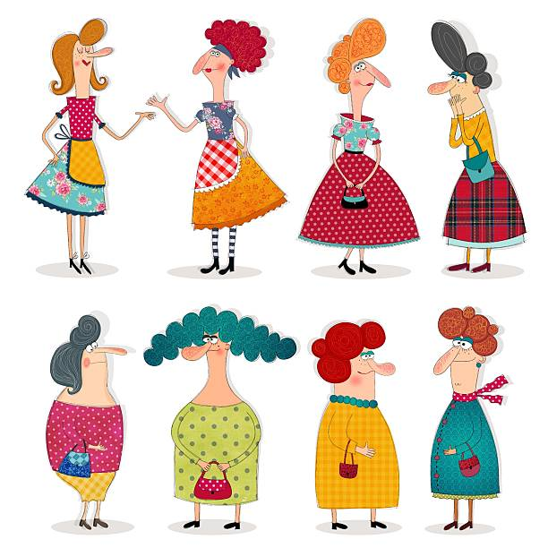 M A S K Cartoon Characters : Royalty free mother scolding clip art vector images