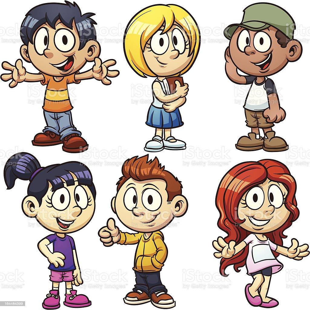 Cartoon children royalty-free stock vector art