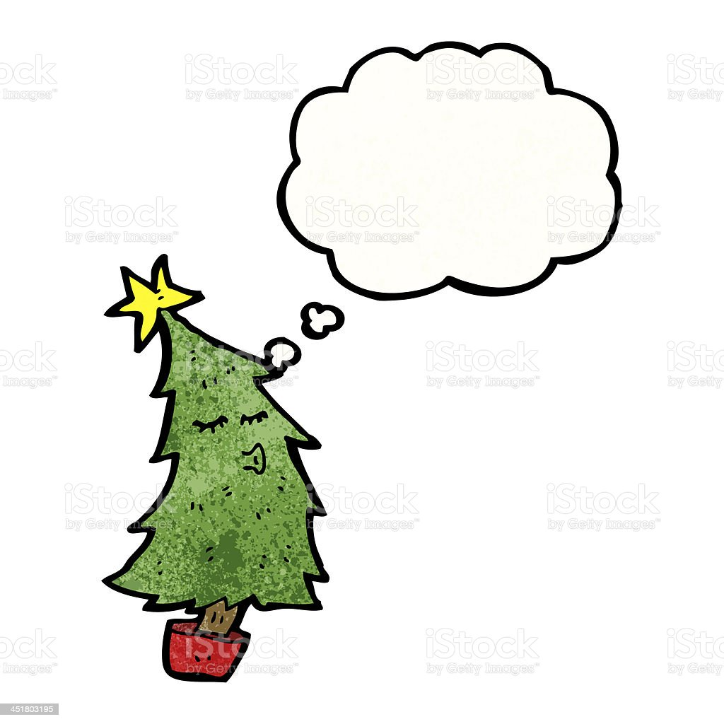 Weihnachtsbaum Comic.Comic Weihnachtsbaum Mit Gedankenblase Stock Vektor Art Und Mehr