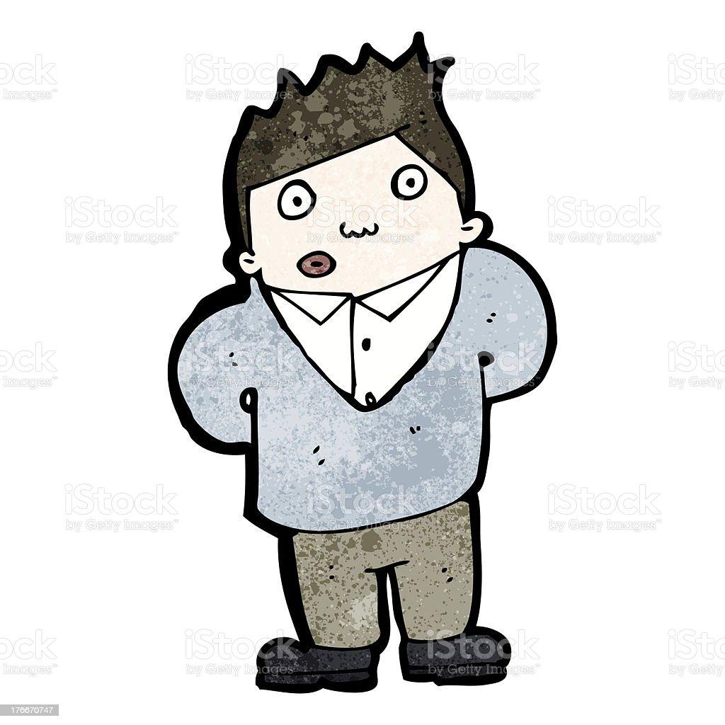 Hombre curioso de historieta ilustración de hombre curioso de historieta y más banco de imágenes de adulto libre de derechos