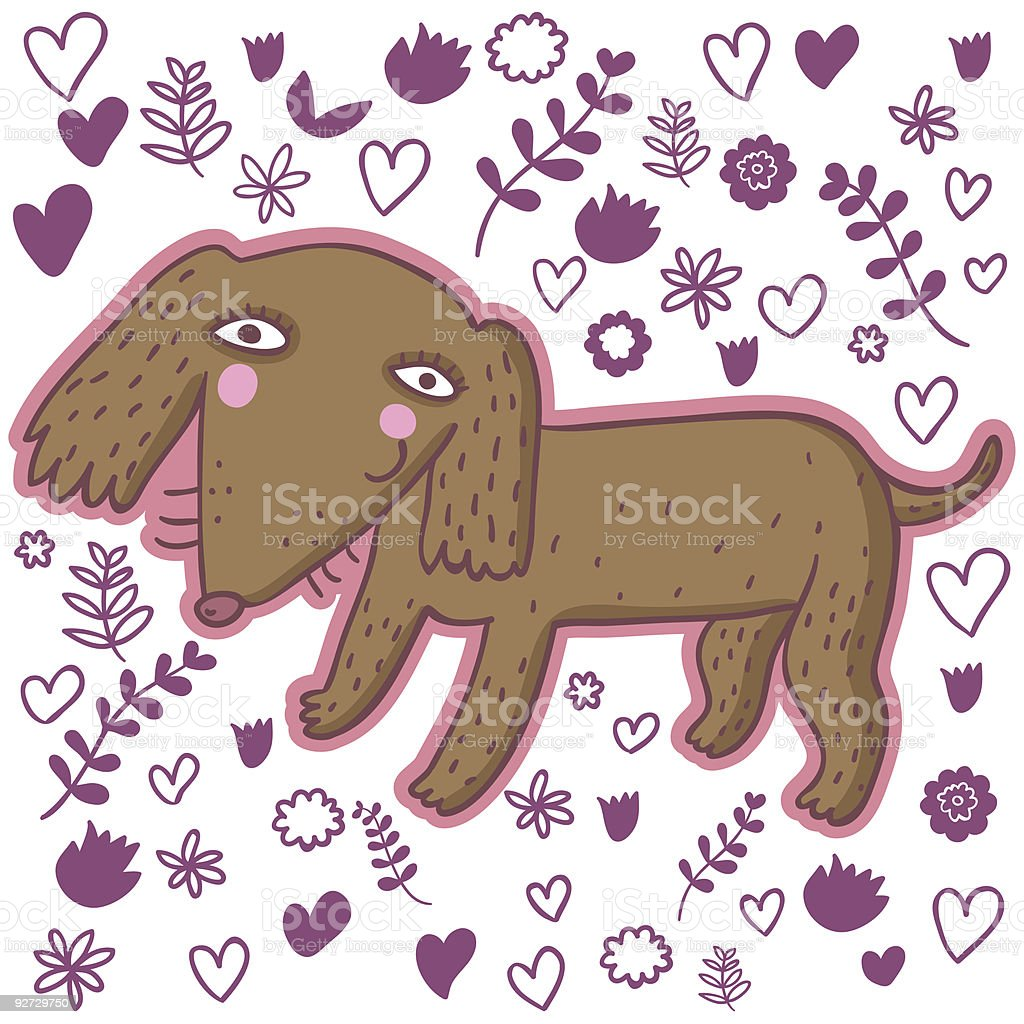 Cartoon dachshund royalty-free cartoon dachshund stock vector art & more images of animal