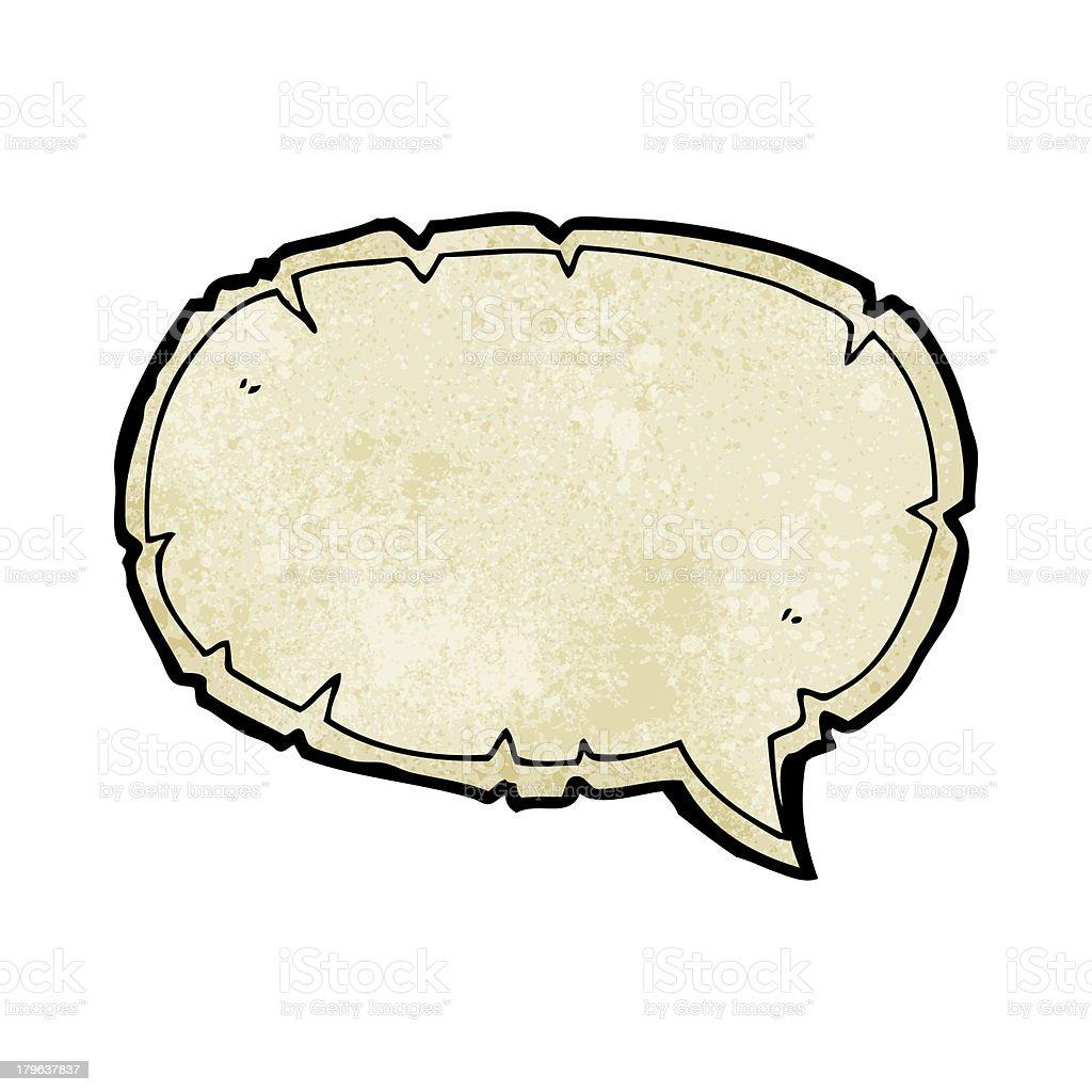 cartoon decorative old speech bubble royalty-free stock vector art