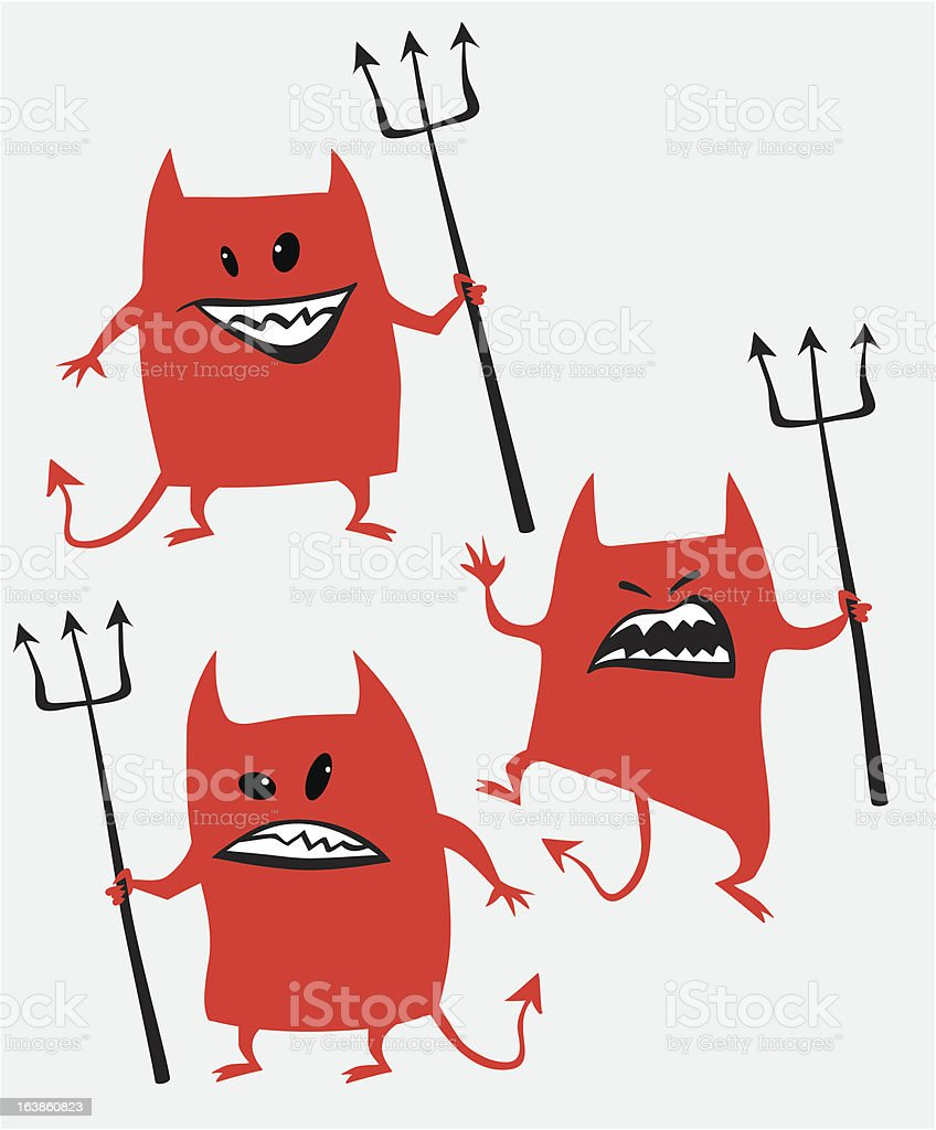 Cartoon Devil vector art illustration