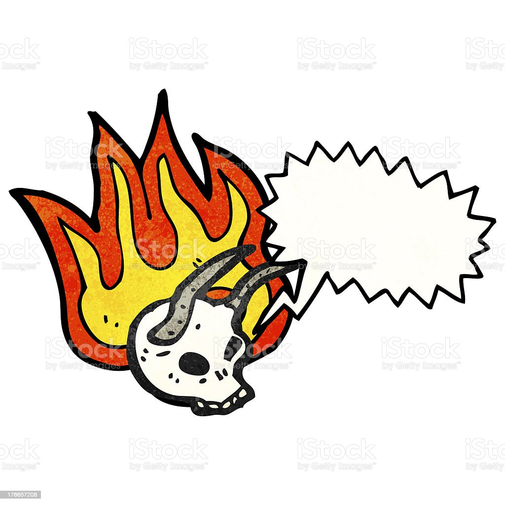 devil cráneo de historieta ilustración de devil cráneo de historieta y más banco de imágenes de alegre libre de derechos