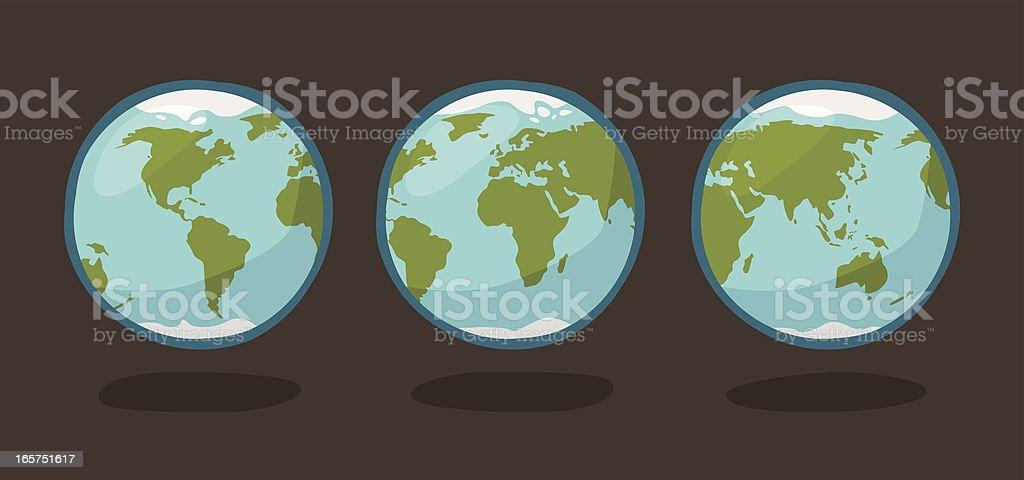 Cartoon earth globe royalty-free cartoon earth globe stock illustration - download image now