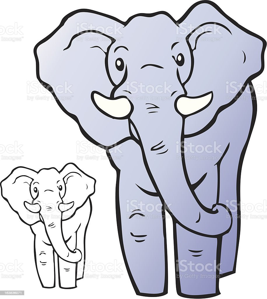 cartoon elephant stock vector art 163836071 istock