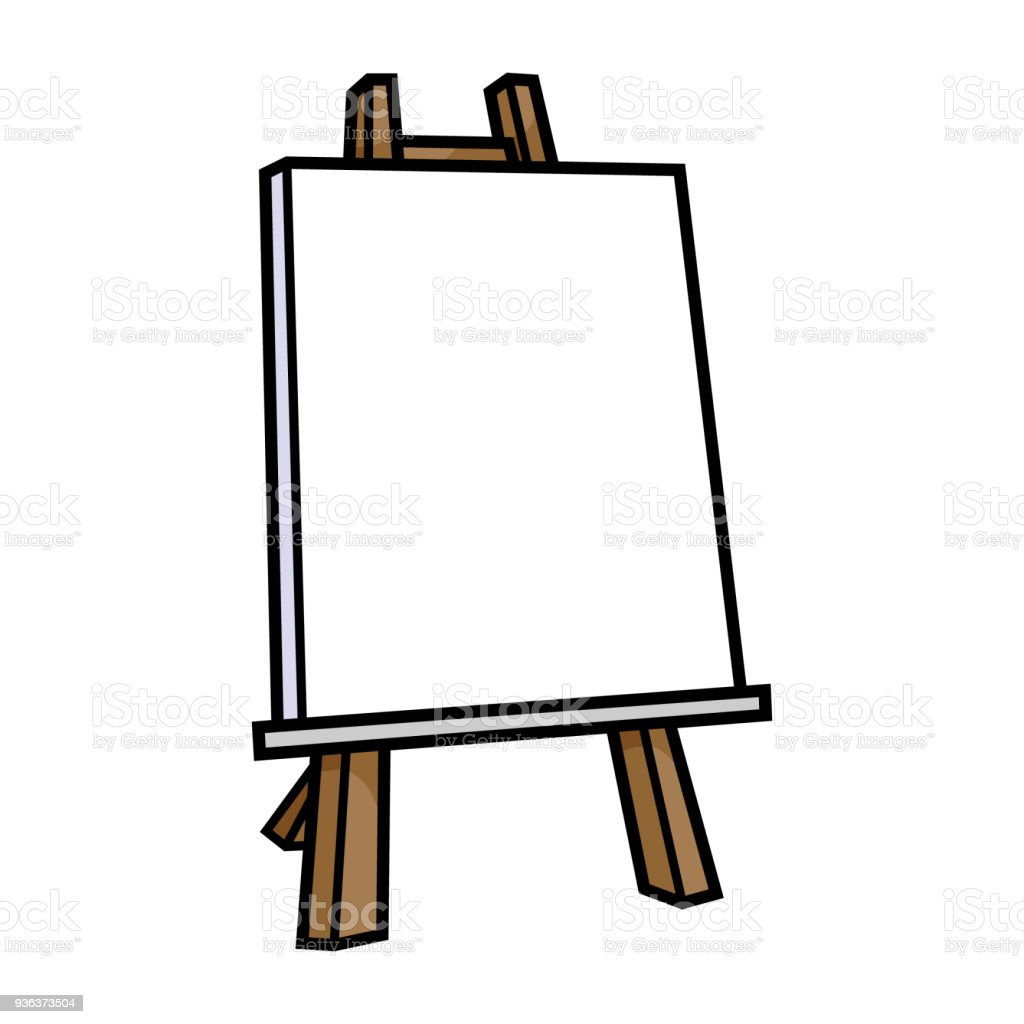 Cartoon Empty Painting Canvas vector art illustration