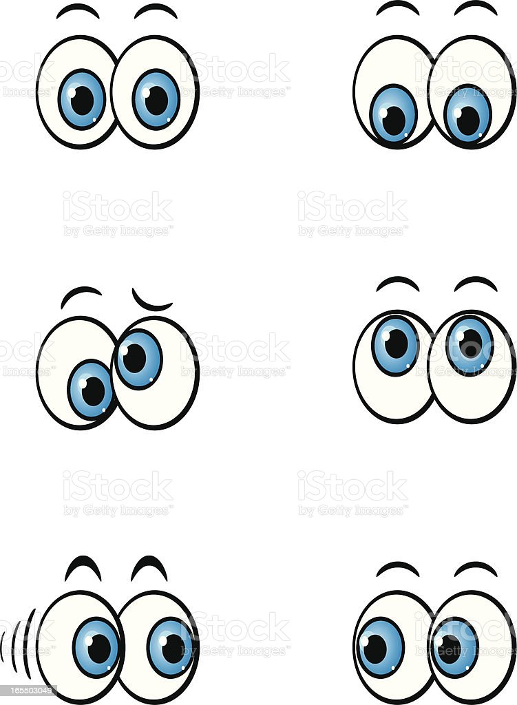 cartoon eyes vector art illustration