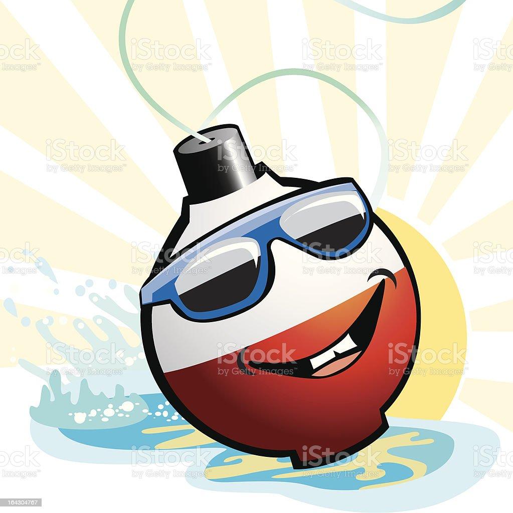 Cartoon Fishing Bobber Float vector art illustration